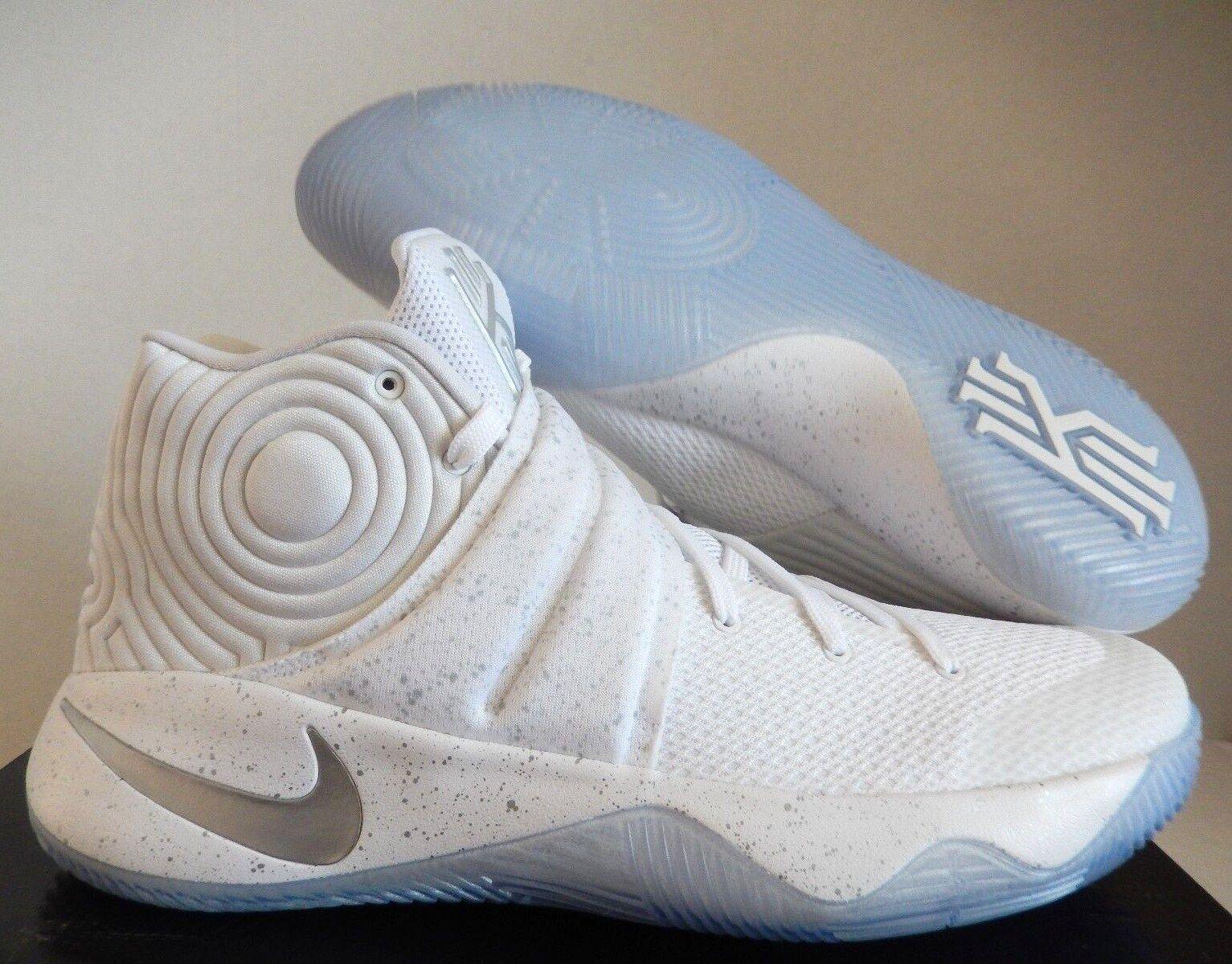 NIKE MEN KYRIE 2 WHITE-METALLIC SILVER SPECKLE Price reduction Cheap and beautiful fashion