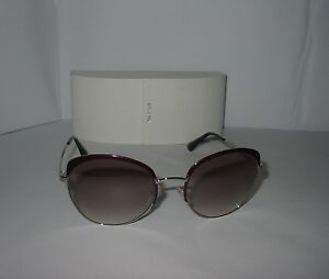 866f12636be5 Image is loading PRADA-Burgundy-amp-Silver-Sunglasses-Brown-Rose-Gradient-
