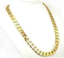 cadenas de oro 24k lleno para caballeros de alta calidad en amarillo  60cm