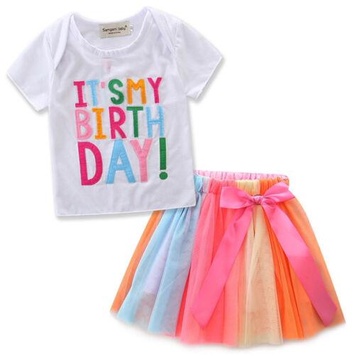 Girls Princess Kids Baby Wedding Birthday Party Pageant Tutu Tulle Skirts Dress