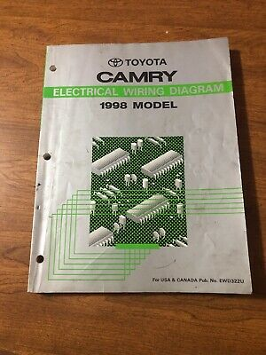 1998 toyota camry wiring schematic 1998 toyota camry wiring diagrams electrical service manual ebay  1998 toyota camry wiring diagrams
