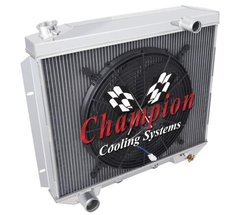 """1957 1958 1959 Ford Cars 3 Row Advanced Radiator w// 16/"""" fan V8 Eng # CC5759"""
