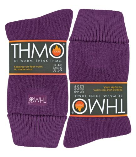 1 Pack Women/'s Thick Seamless Winter Warm Ribbed Soft Top Thermal Socks THMO