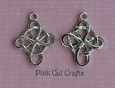 5 x Tibetan Silver CELTIC CUT OUT CROSS Charms Pendants Beads