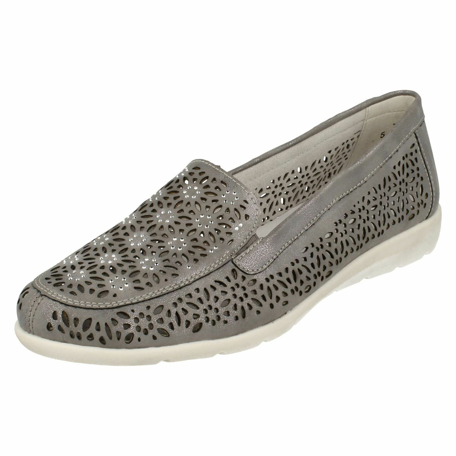 Remonte D1918 Grau Synthetic Casual Slip On Schuhes