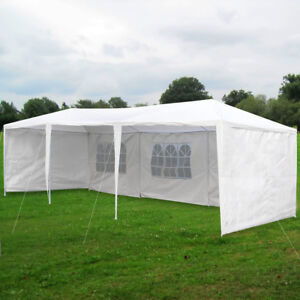 La foto se está cargando Waterproof-10-039-x30-039-Gazebo-Canopy-Party- & Waterproof 10u0027x30u0027 Gazebo Canopy Party Wedding Outdoor Tent ...