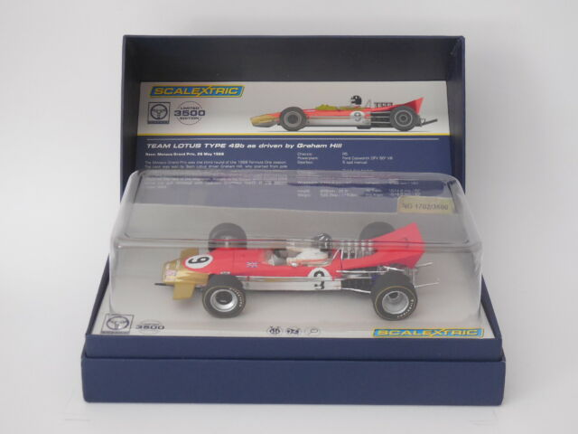 Scalextric 1/32 Slot Car C3656A Lotus 49B # 9 Graham Hill 1968