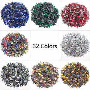 3D-Rhinestones-Crystal-For-Nail-Art-Nail-Art-Decorations-Glass-Stones-Hot-Fix