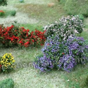 Mp Scenery 10 Flower Bushes O Scale Architectural Flowering Plants