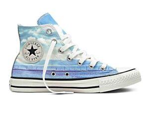 CONVERSE-Chuck-Taylor-All-Star-Hi-Top-Scarpe-Sneakers-SPRAY-PAINT-BLUE-551007C
