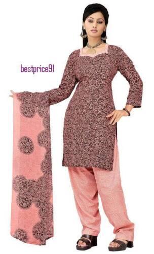 """Beautiful 3pcs French Crepe Salwar//Shalwar Kameez /& Dupatta Suit Medium Size 40/"""""""