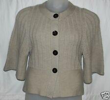Banana Republic Women Sweater Size Small Bolero Cardigan Cropped Oatmeal Beige S