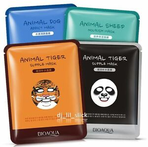 4-Pack-Animal-Moisture-Nourish-Essence-Face-Mask-Sheet-Facial-Beauty-Skin-Care