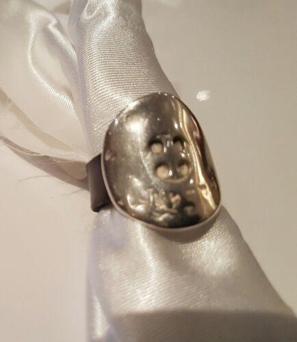 Restposten Lederring 10 mm breit mir ausgefallener Ringperle