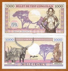 Congo-1000-Francs-2018-Private-issue-Specimen-gt-African-Tribal-Nude
