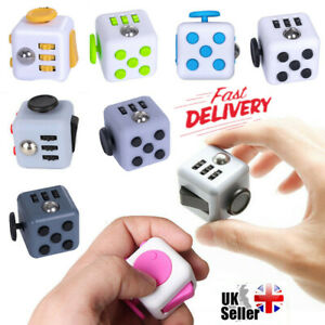 UK Fidget Toy Cube Stress Anxiety Relief Toys EDC 6 Sided ...