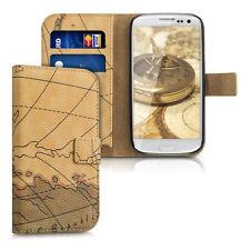 kwmobile Schutz Hülle für Samsung Galaxy S3 S3 Neo Landkarte Tasche Kunstleder