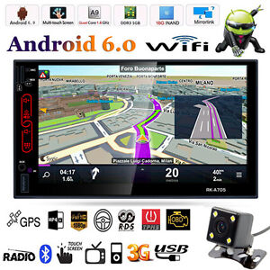 7'' Doppia 2 Din Auto Audio Video Radio MP3 MP5 Player Android WiFi BT GPS Nav