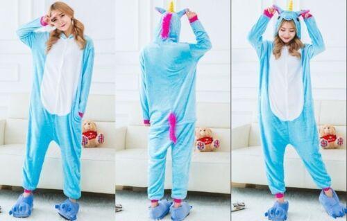 Unisex Adult Animal Onesie989 Anime Cosplay Pyjamas Kigurumi Fancy Dress Unicorn