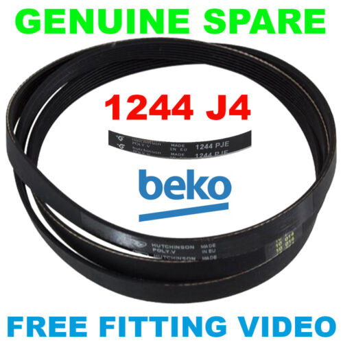 Beko WTB620E1W WTG50M1W WTG620M1W LAVATRICE polyvee Cinghia di trasmissione 1244 4PJE