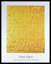 Yves Klein MG 8 Poster Bild Kunstdruck mit Alu Rahmen in schwarz 90x70cm