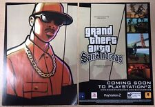 Grand Theft Auto San Andreas Poster Ad Print GTA Playstation 2 PS2