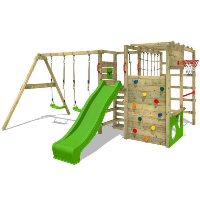 Parco Giochi Legno Da Giardino Con Altalena E Scivolo Fatmoose Actionarena