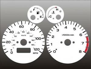 Fits-1998-2000-Subaru-Forester-White-Face-Gauges-98-00