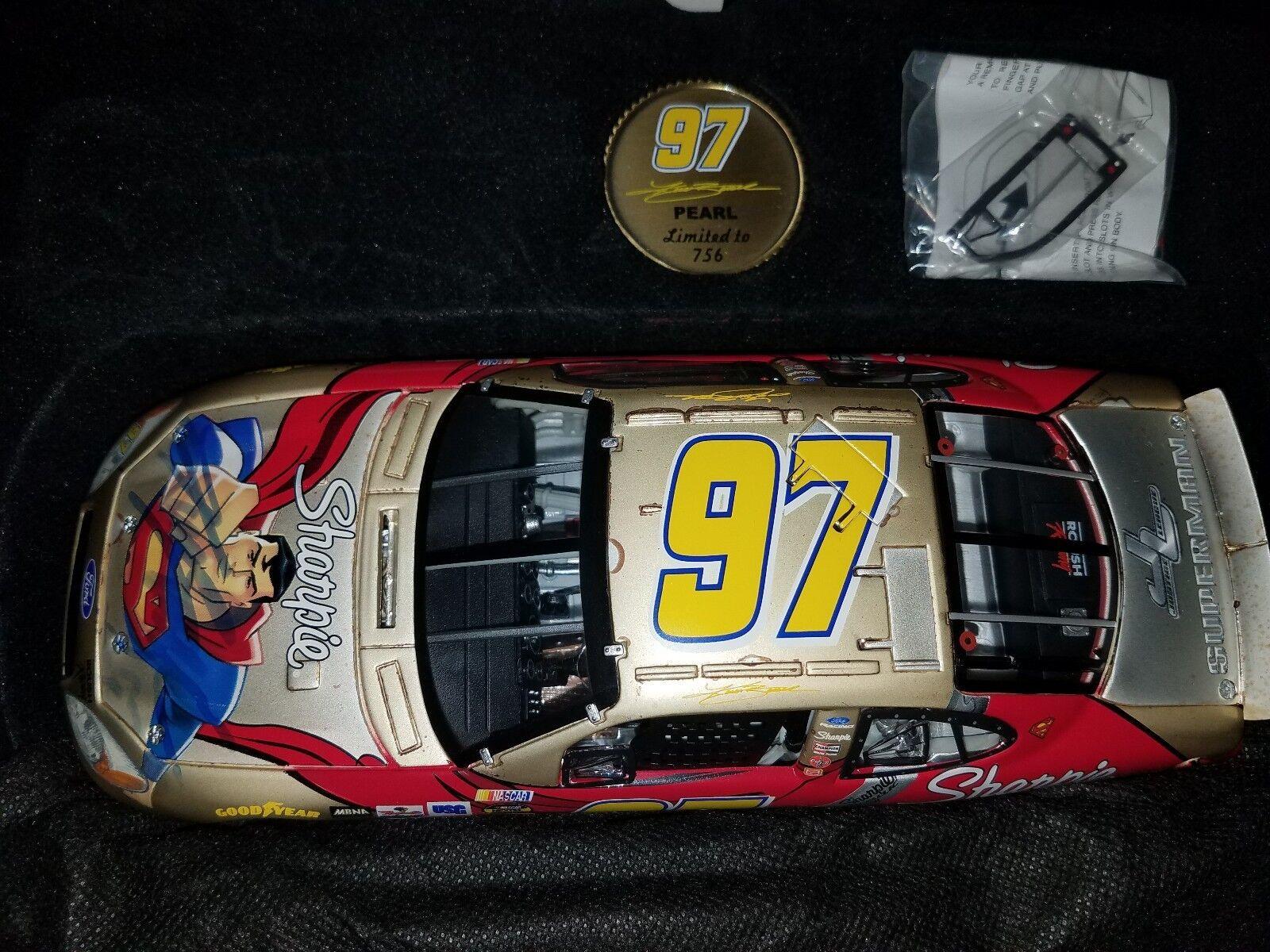 2004 Kurt Busch súperman 1 24 equipo de calibre propietarios Pearl Diecast Raro