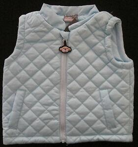 Baby Boys Vest Jacket Coat Winter Warm Puffer Sleeveless Outwear Size 00, 0 NEW