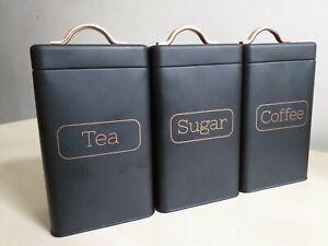 Caravan Camping Tea Sugar Coffee Jars