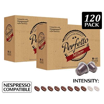 2 x     Perfetto Milano Nespresso Compatible Coffee Capsules 60pk