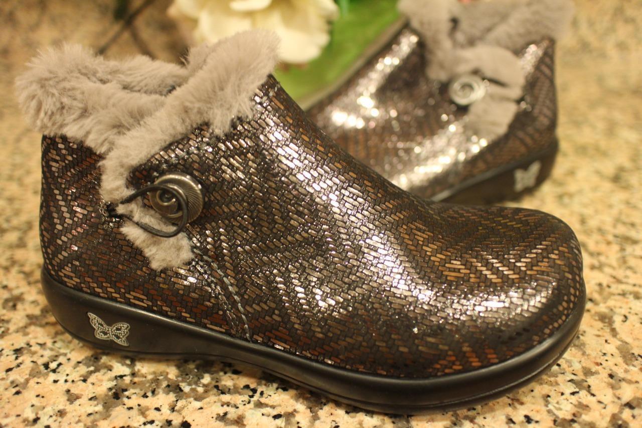 Alegria Women's Meri Boots Pewter Dazzler Style MER-532  SIZE 38W  (500