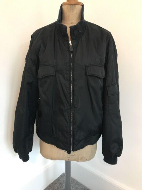 Men's Used V Dark Blue Black XL Zara Bomber Jacket Coat