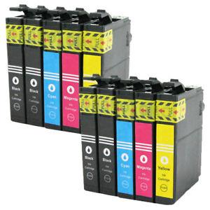 Set-10x-Druckerpatrone-Tinte-Patrone-fuer-Epson-Stylus-Workforce-Expression-Home