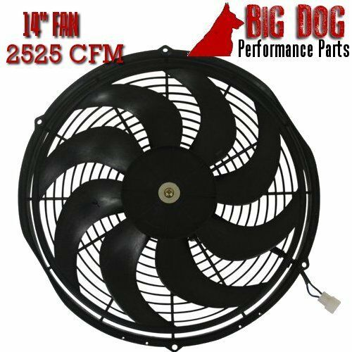 """14/"""" Electric Cooling Fan High-Performance Reversible S-Blades 2525 CFM Radiator"""