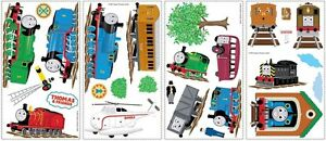 THOMAS-THE-TRAIN-WALL-STICKERS-Tank-Engine-Decals-Trains-Party-Decorations-NEW