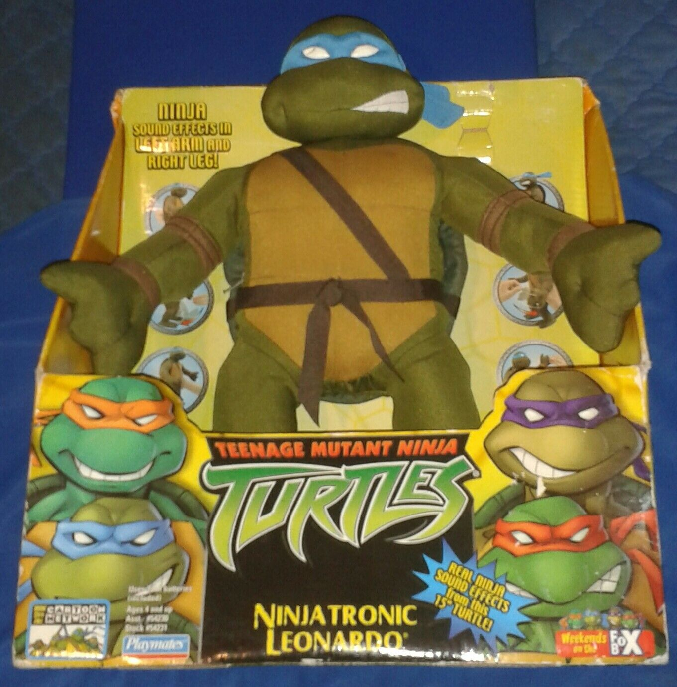2004  GIANT NINJATRONIC LEO LEONARDO MIB  TEENAGE MUTANT NINJA TURTLES