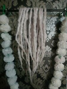 Medium DE Natural White Coloured Natural Styled Dreads (x10)