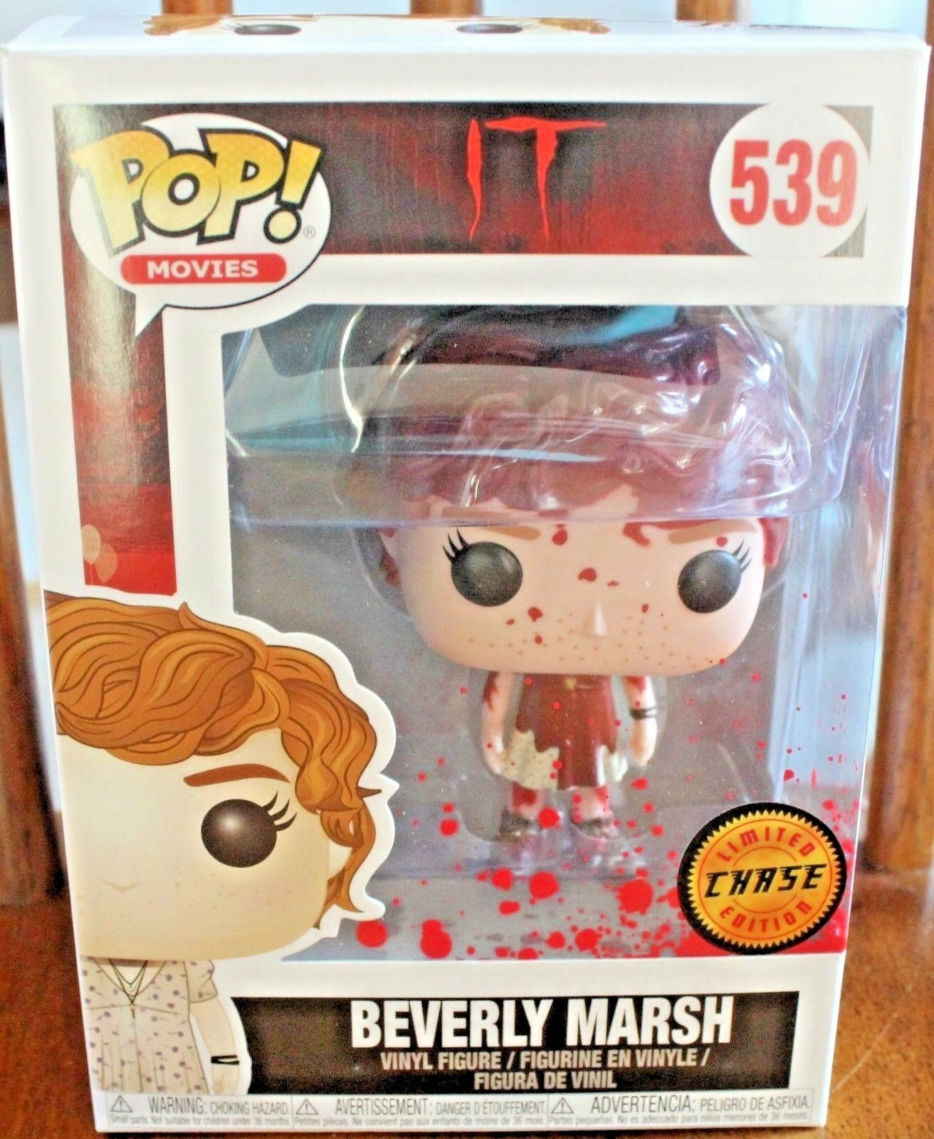Funko POP Movies It BEVERLY MARSH IT CHASE  539 Beverly Marsh IT Bloody Version