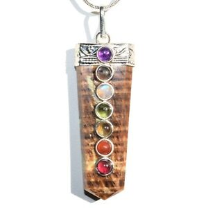 CHARGED-7-Chakra-Aragonite-Crystal-Perfect-Pendant-20-034-Chain
