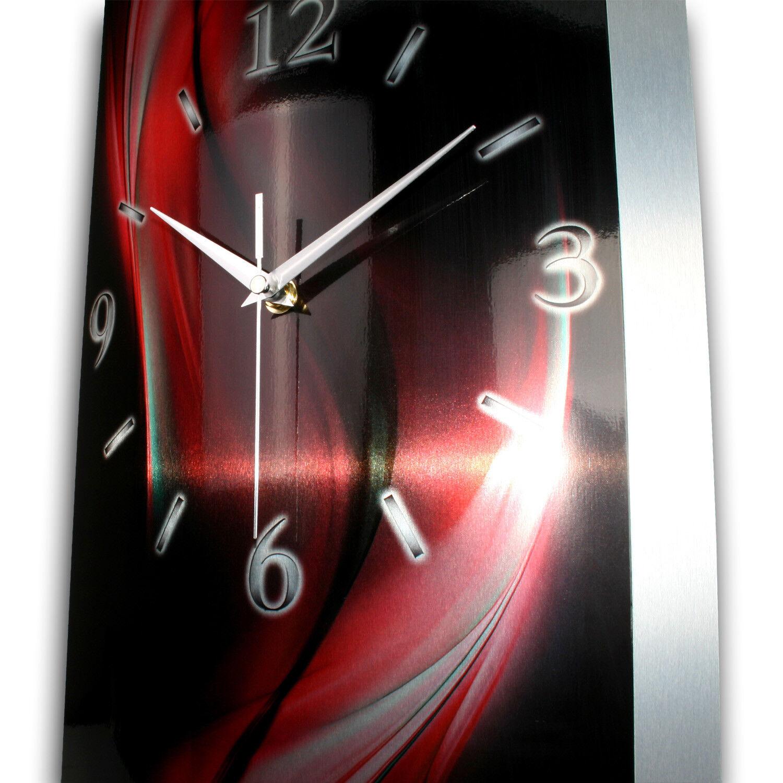 Abstrait Horloge 3d Designer Horloge Abstrait Radio Horloge radiopilotée en aluminium * silencieux * créatifs ressort 71a01d