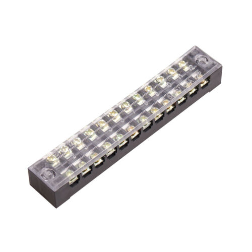 12Position Covered Screw 600V 15A 1Pcs TB-1512 Terminal Barrier Block Strip