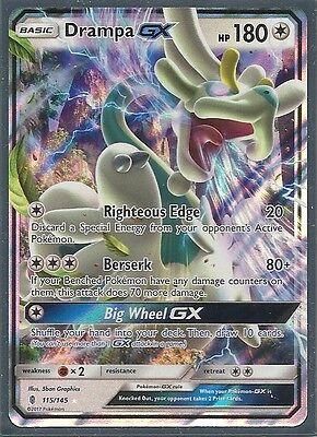 Drampa GX 115//145 SM Guardians Rising Set HOLO Pokemon Card NEAR MINT