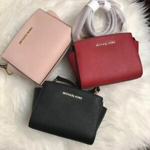 82093e29c6f8 Image is loading NWT-Michael-Kors-SELMA-Mini-Saffiano-Leather-Crossbody-
