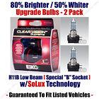 2-Pack Upgrade Headlight Bulbs Low Beam 80% Brighter 50% Whiter EiKo H11B CVSU2