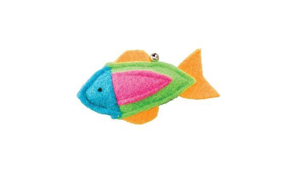 1-ethical Z Erba Gatta Whiskins Feltro Pesce Assortiti Colore Giocattolo. Usa Ridurre Il Peso Corporeo E Prolungare La Vita