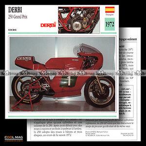 082-16-DERBI-250-GP-GRAND-PRIX-1972-Racing-Bike-Fiche-Moto-Motorcycle-Card