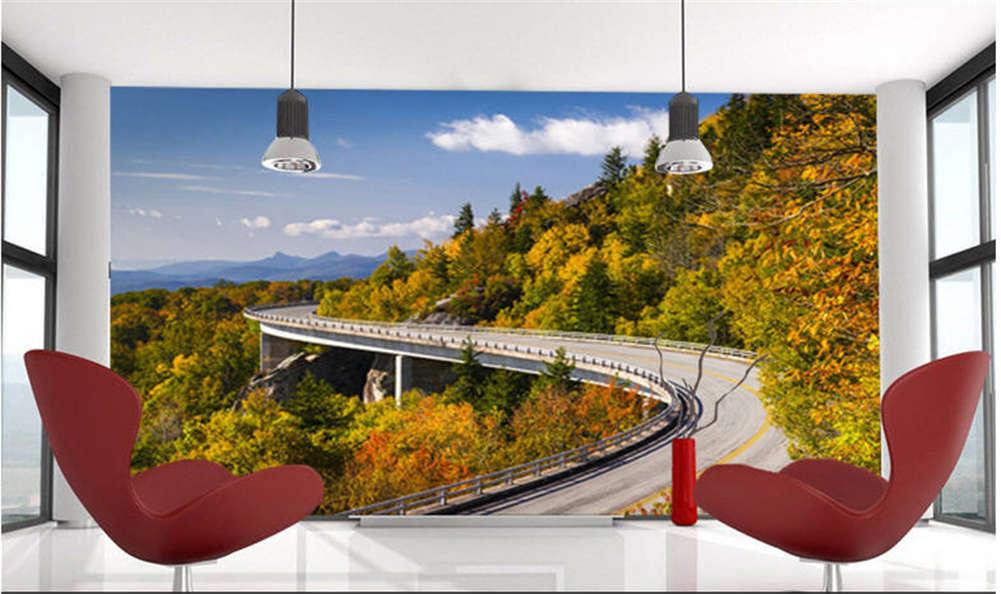 Majestic Long Road 3D Full Wall Mural Photo Wallpaper Printing Home Kids Decor