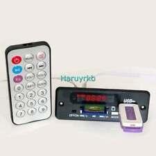 Digital LED display 5V/12v mp3 decoder + IR Remote control usb SD FM Radio CAR